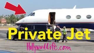 Justin Bieber & Sofia Richie Board Private Jet - Exclusive VIDEO