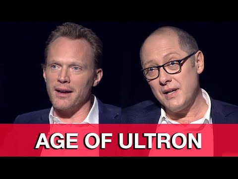 Avengers Age of Ultron Interview - James Spader & Paul Bettany Ultron & Vision