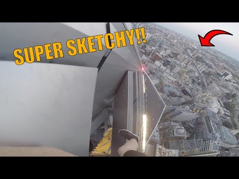 REALLY SKETCHY/DANGEROUS CLIMB IN LONDON!