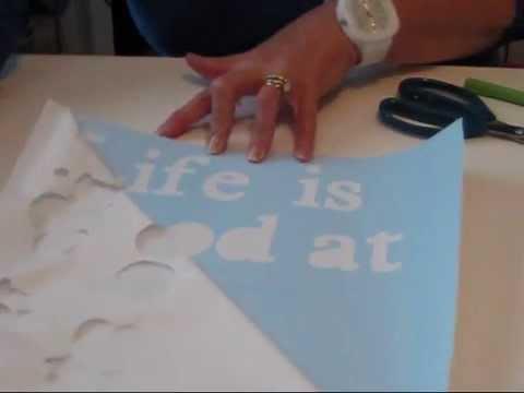 Craft Vinyl Ideas For Wall Vinyl Art Life Is Good At The Beach Part 1 Youtube