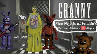 (FNAF)Animatronic Granny Full Gameplay