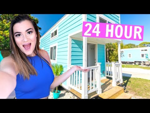 24 hours in a TINY HOUSE challenge!!