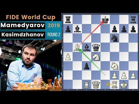 The Attacking Mind! - Mamedyarov vs Kasimdzhanov | Fide World Cup 2019