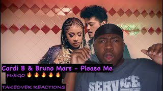 Cardi B & Bruno Mars - Please Me (Official Video)(REACTION)