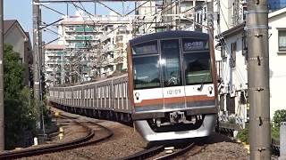 東京メトロ副都心線10000系10119FFライナー特急元町・中華街行き白楽カーブ通過