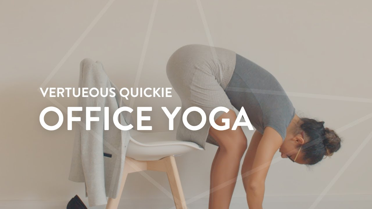 Yoga Videos You Can Do At Your Desk Popsugar Fitness