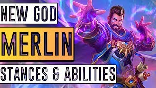 SMITE Merlin Ability Info From HiRez! Abilities For All 3 Stances! Merlin: A Closer Look