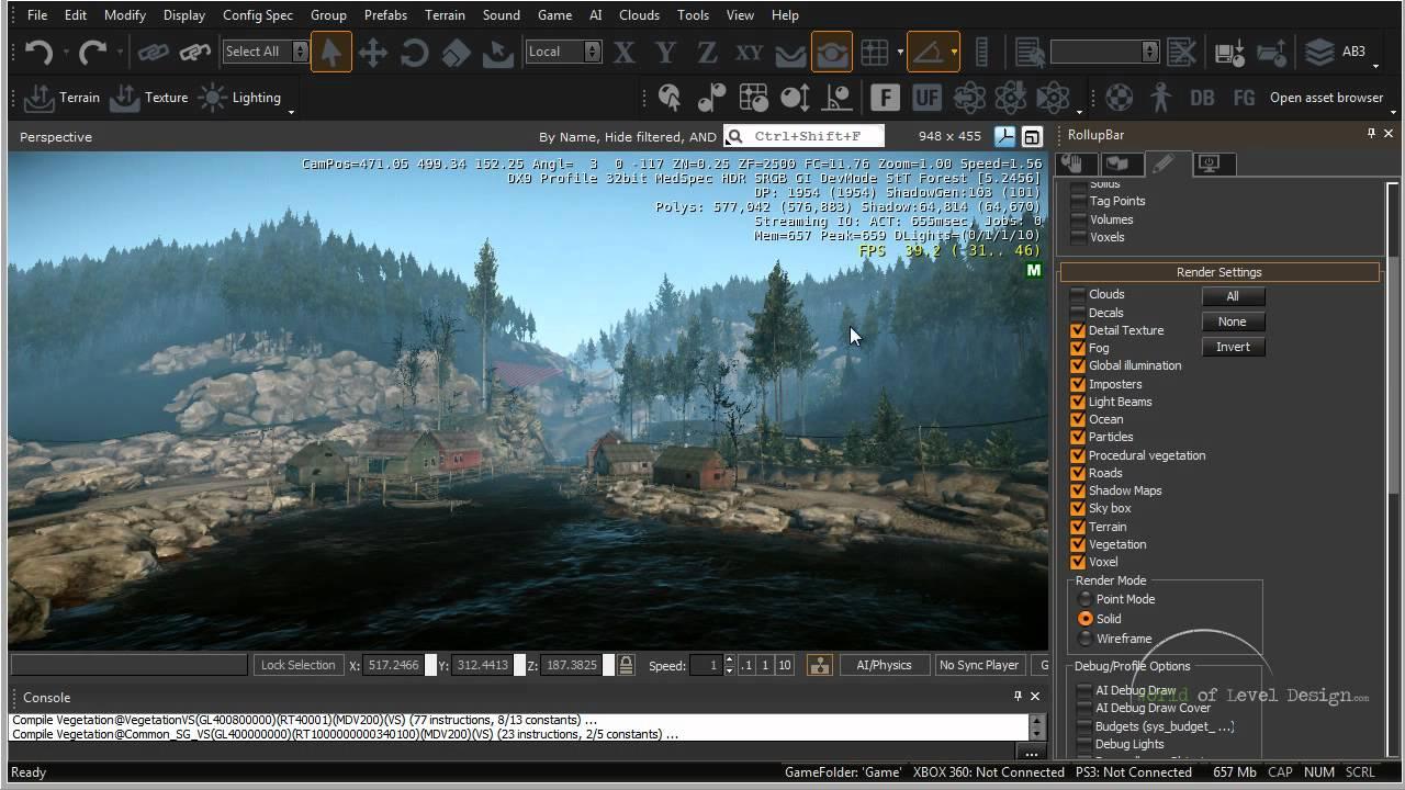 CryEngine 3 SDK: Navigation, Interface, Viewports Tutorial