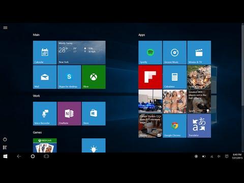 Windows 10 activer le mode tablette