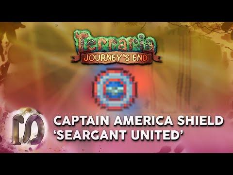 Terraria 1.4 Journey's END - CAPTAIN AMERICA 'SEARGANT UNITED' SHIELD - MARVEL REFERENCE TERRARIA