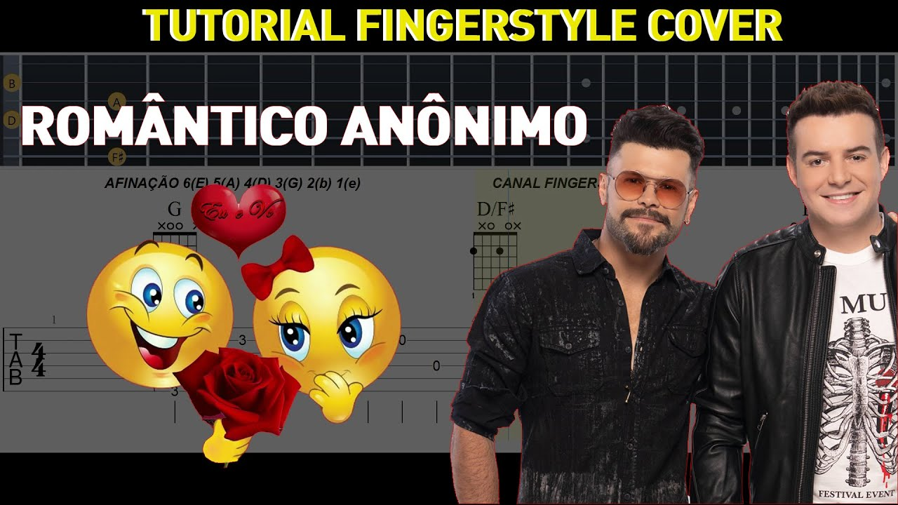 "Romântico Anônimo ""Marcos  Belutti"" Violão e Guitar Tutorial Fingerstyle TAB"