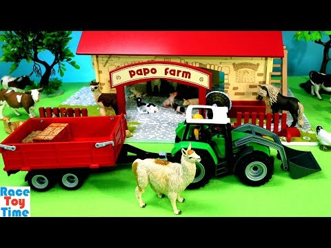 Farm Animals Toys and Papo My First Farm Barn Playset For Kids
