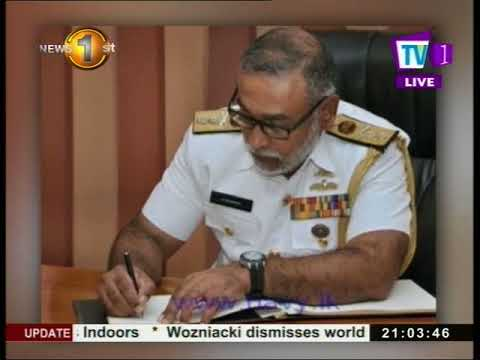 News1st: Rear Admiral Sirimevan Ranasinghe appointed Navy Commander