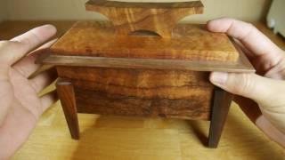 Hawaiian Koa Wood Pop Top Box at Simply Wood Studios