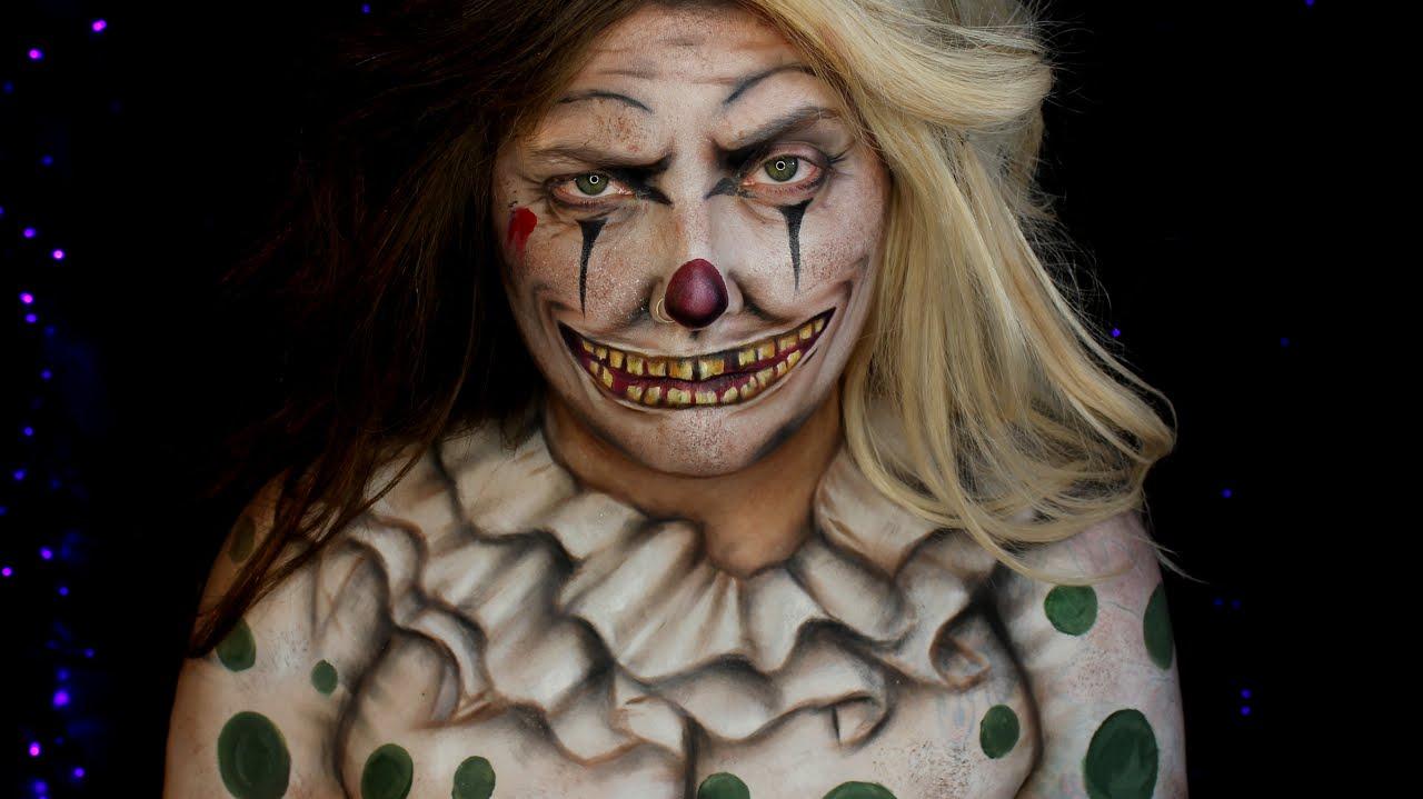 Creepy Vintage Clown Halloween Makeup Tutorial Jordan - Classic Halloween Makeup