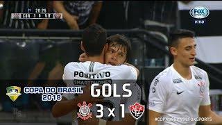 Corinthians 3 x 1 Vitória - Copa do Brasil 2018 - Fox Sports HD⁶⁰