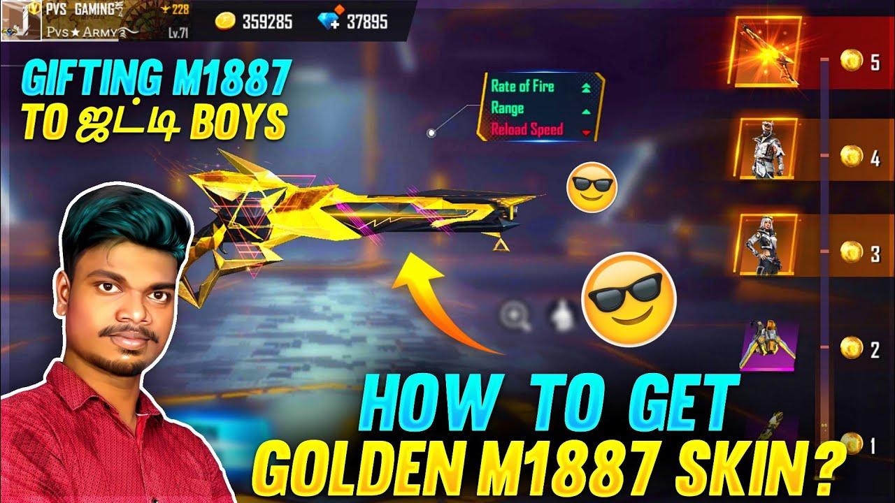 Download 💥 RIP 3000 💎 Bye Bye Bunny Mp40 😭 I Got New Golden M1887 Gun Skin Spin Tips And Tricks Tamil    PVS