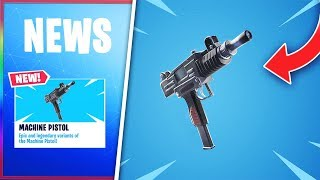 "*NEW* LEAKED MACHINE PISTOL In FORTNITE! - NEW FORTNITE ""UZI"" MACHINE PISTOL!"