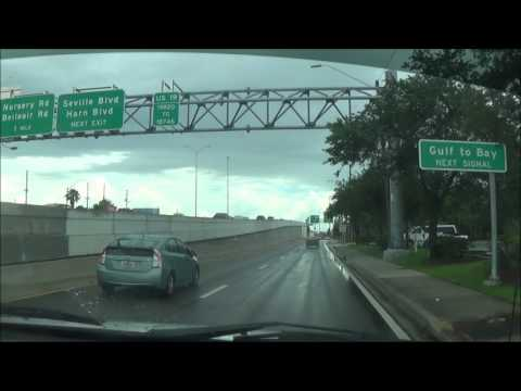 Driving on U.S.  Route 19 S (Tarpon Springs, FL to Clearwater, FL)