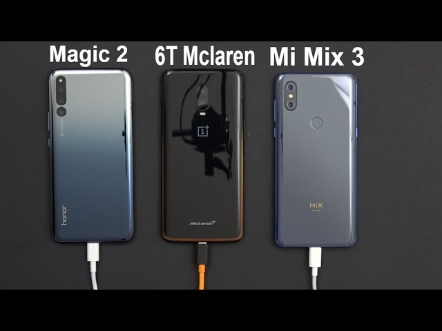 30 Minutes Charging Speed Test Challenge - Honor Magic 2 Vs Oneplus 6T Mclaren Vs Xiaomi Mi Mix 3