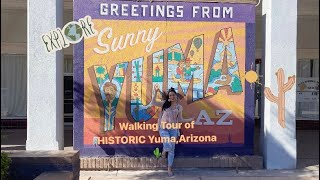 Yuma, Arizona | historic buildings & local businesses in downtown Yuma. FEBRUARY 2021.