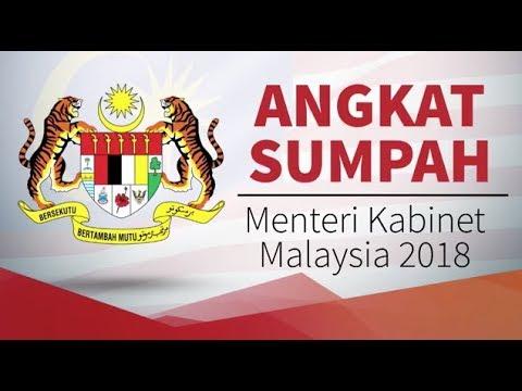 Istiadat angkat sumpah menteri kabinet Malaysia 2018