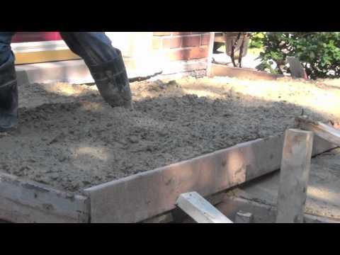 How to build Concrete Sidewalk Brick Porch ¿Cómo construir Porche hormigón ladrillo Acera