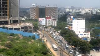 A panned raw footage from high-rise in hitech city cyberabad at madhapur, hyderabad using nokia n8. cyber tower can be seen ## and the tcs building at...