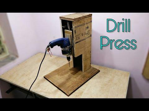 Making A Drill Press Stand Diy Drill Press Machine Youtube