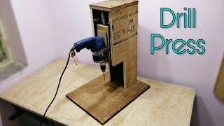 Making A Drill Press Stand - DIY Drill Press Machine..