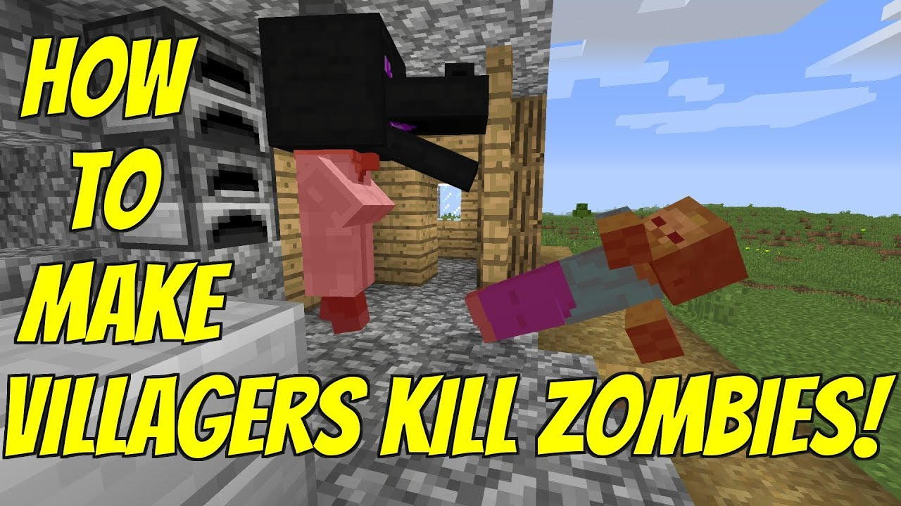 How To Make Villagers Kill Zombies Really Works Minecraft