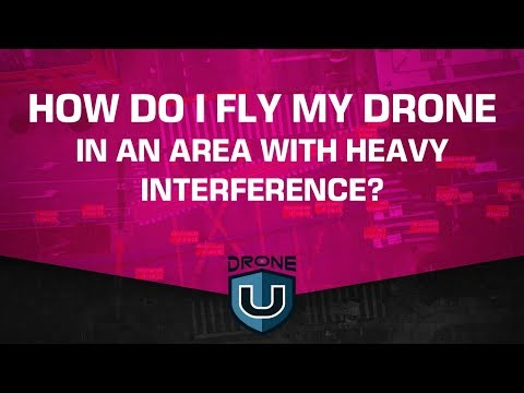 How Do I Fly My Drone in an Area with Heavy Interference?