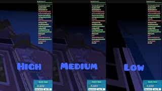 Roblox Graphics Comparison - High, Medium, Low
