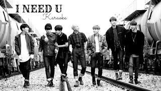 Video BTS - I NEED U Karaoke with Backing Voice download MP3, 3GP, MP4, WEBM, AVI, FLV Maret 2018