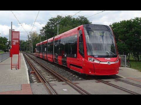 Bratislava Trams - Route 1 -  Driver's Eye View.