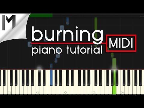 Burning ~ Ludovico Einaudi ~ Original Piano Tutorial [MIDI]