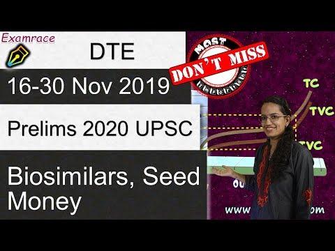 Down To Earth (DTE) 16-30 Nov 2019: Biosimilars, RCEP, Seed Money, NGT (IAS Prelims 2020)