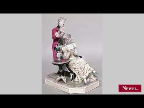 Antique French Victorian porcelain figure of woman seated