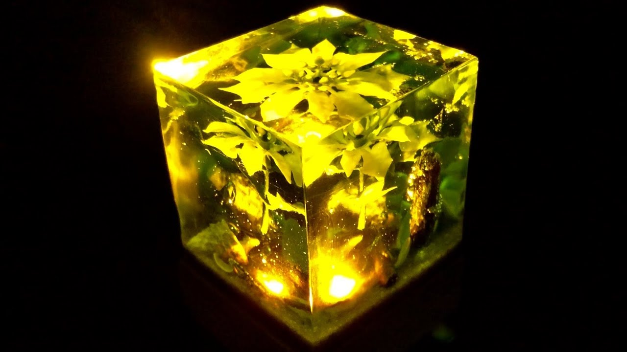 Ocean Cube Lamp From Resin Diy Youtube