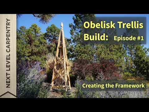 Garden Obelisk Trellis Build Part One: The Legs