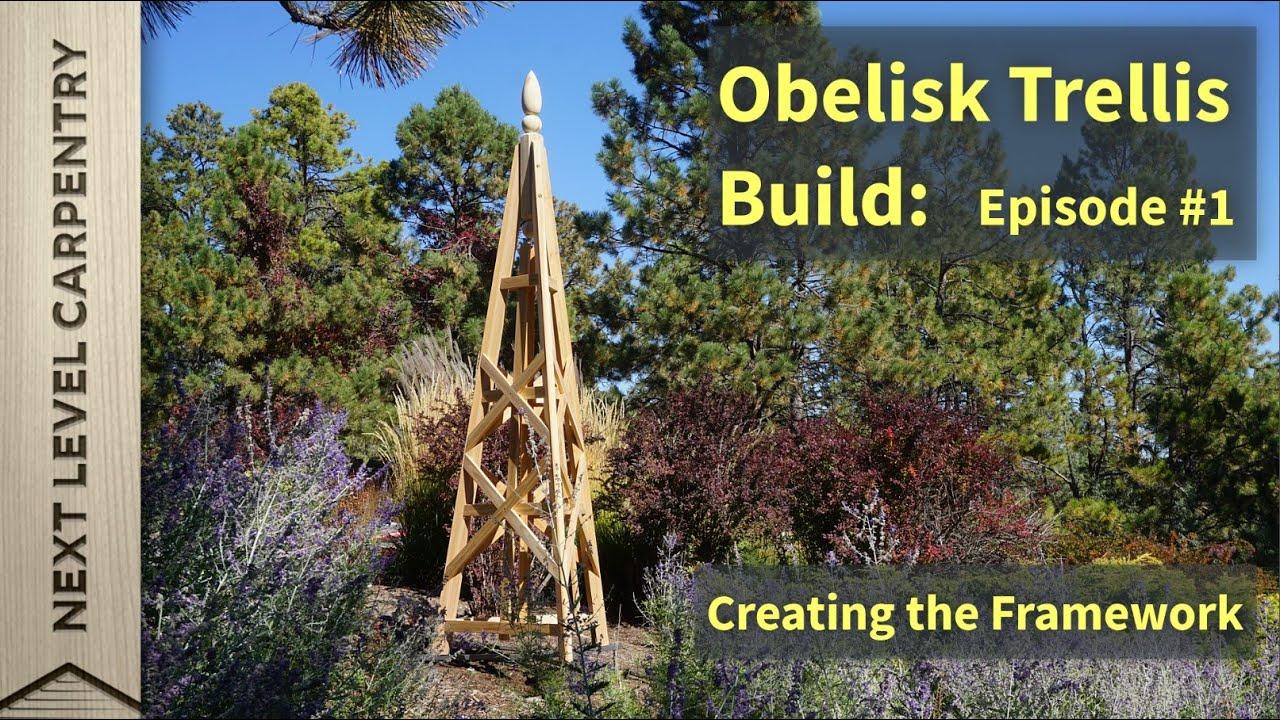 How to make a garden obelisk - Garden Obelisk Trellis Build Part One The Legs