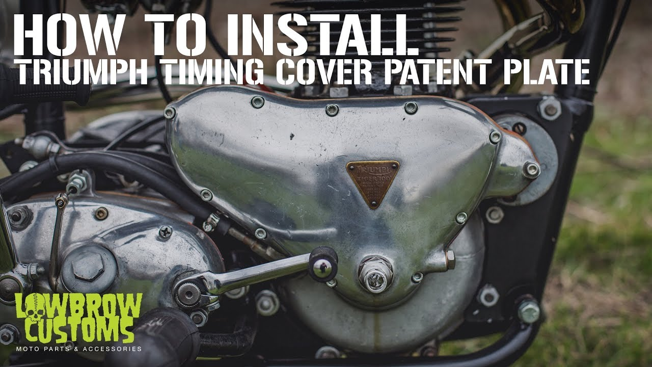 Diy Tech Tip Triumph Timing Cover Patent Plate Removal Wiring Harness For 1971 Motorcycle Installation By Lowbrow Customs