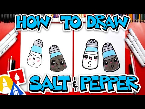 How To Draw Funny Salt And Pepper Shakers