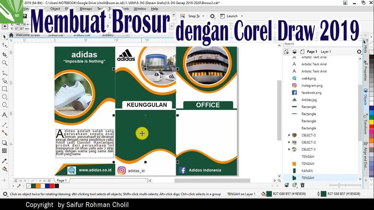 Tutorial membuat brosur dengan Corel Draw 2019