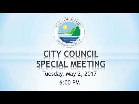 Malibu City Council Meeting May 2, 2017