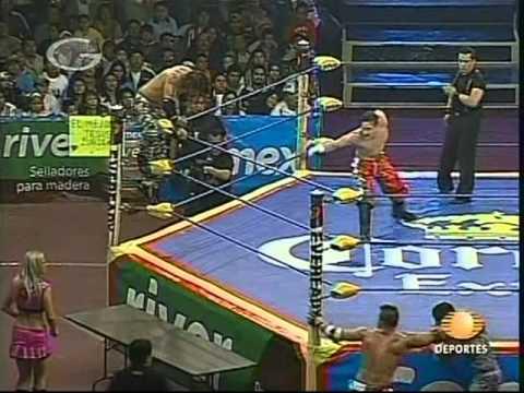 AAA: Nicho el Millonario, Joe Líder vs. Teddy Hart, Jack Evans, 2008/12/06 [AAA Tag]