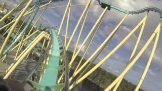 FULL Kraken Unleashed POV side-by-side VR roller coaster experience at SeaWorld Orlando