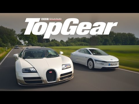 bugatti veyron vs volkswagen xl1 topgear test drive eng subs youtube. Black Bedroom Furniture Sets. Home Design Ideas