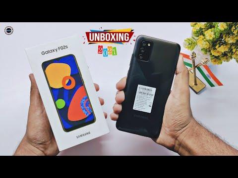 Samsung Galaxy F02s Unboxing & Review    5000 mAh    Diamond Black Colour