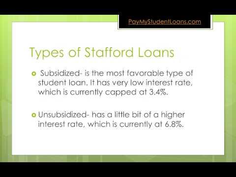 Stafford Student Loans